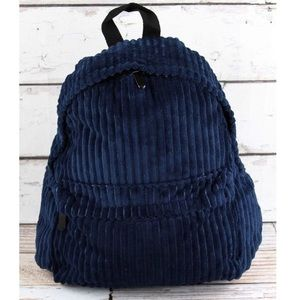 New Arrival! Soft navy corduroy backpack